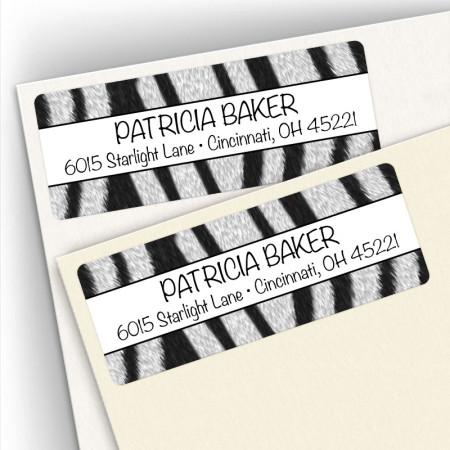 Zebra Pattern Address Labels