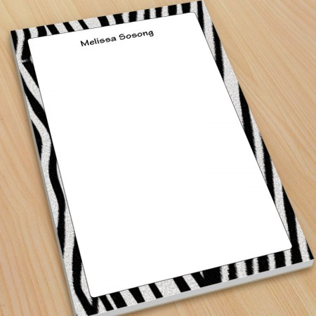 Zebra Pattern Large Note Pads