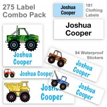 4x4 Truck Label Combo Pack