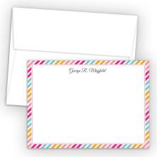 Diagonal Stripes 1 Correspondence Cards