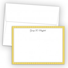Gold Stripes Correspondence Cards