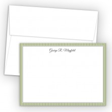 Green Stripes Correspondence Cards