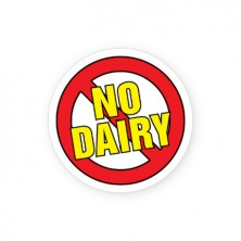 No Dairy Allergy Alert Labels