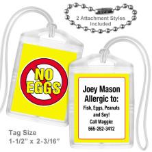 Allergy Eggs Mini Tag