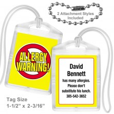 Allergy Warning Mini Tag