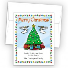 Angel Tree Merry Christmas Holiday Cards