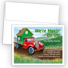 Antique Truck Moving Card