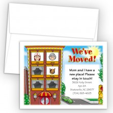 Apartment Moving Cards & Announcements - 3 head