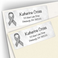 Awareness Ribbon Brain Cancer Address Labels