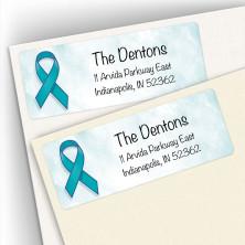 Awareness Ribbon Ovarian Cancer Address Labels