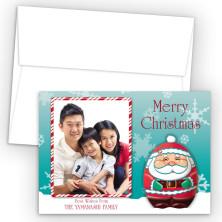 Babushka Photo Upload Holiday Card