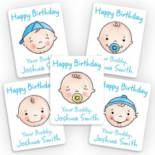 Baby Boy Mini Gift Labels