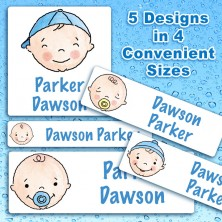Baby Boys Waterproof Name Labels For Kids