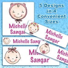 Baby Girls Waterproof Name Labels For Kids