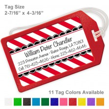 Baby Stripes Red Luggage Tag