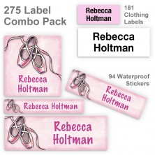 Ballet Slippers Label Combo Pack