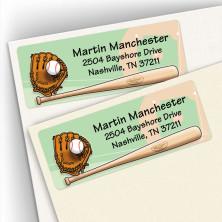 Baseball Address Labels