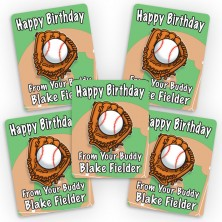 Baseball Mini Gift Labels