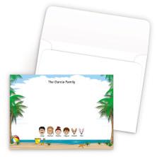 Beach Bordered Family Correspondence Card