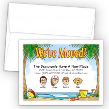 Beach Scene Moving Cards & Announcements