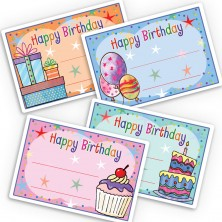 Birthday Party Gift Labels