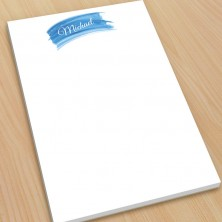Blue Watercolor Large Note Pads