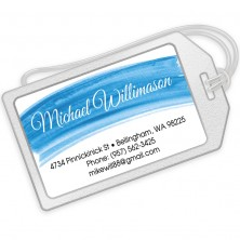 Blue Watercolor Luggage Tags