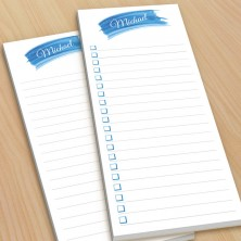Blue Watercolor To-Do Pads - with magnets