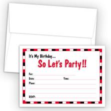 Boy Generic Fill-In Birthday Party Invitations
