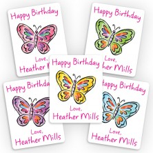 Butterflies 3 Mini Gift Labels