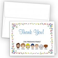 Butterflies Foldover Family Thank You Card