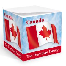 Canadian Flag Memo Cube
