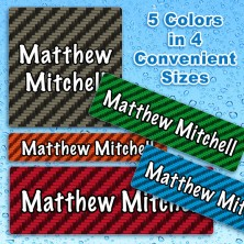 Carbon Fiber Waterproof Name Labels For Kids