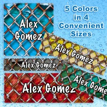 Chain Link Fence Waterproof Name Labels For Kids
