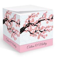 Cherry Blossoms Memo Cube