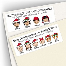 Christmas Address Label