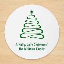 Christmas Design 10 Personalized Christmas Coasters
