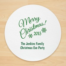 Christmas Design 16 Personalized Christmas Coasters