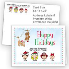 Christmas Monkeys Happy Holidays Fold Note Set