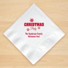 Christmas Napkin Design 11 Personalized Christmas Beverage Napkins