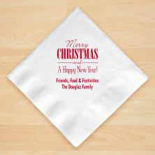 Christmas Napkin Design 20 Personalized Christmas Beverage Napkins