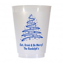 Christmas Tree Design 3 16 oz Personalized Christmas Party Cups