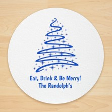 Christmas Tree Design 3 Personalized Christmas Coasters