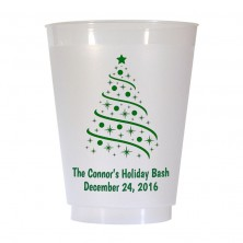 Christmas Tree Design 4 16 oz Personalized Christmas Party Cups