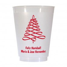 Christmas Tree Design 8 16 oz Personalized Christmas Party Cups