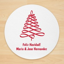 Christmas Tree Design 8 Personalized Christmas Coasters
