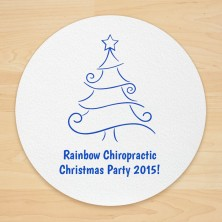 Christmas Tree Design 9 Personalized Christmas Coasters