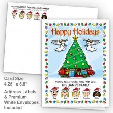 Christmas Tree Happy Holidays Fold Note Set