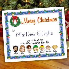 Christmas Wreath Christmas Gift Label