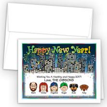 City Happy New Year Card